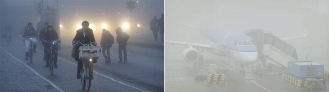 Zawodzą samoloty i samochody. Holandia w gęstej mgle