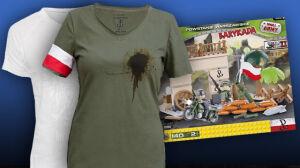 Klocki z nazistami, zakrwawione koszulki. Moda na powstańcze gadżety