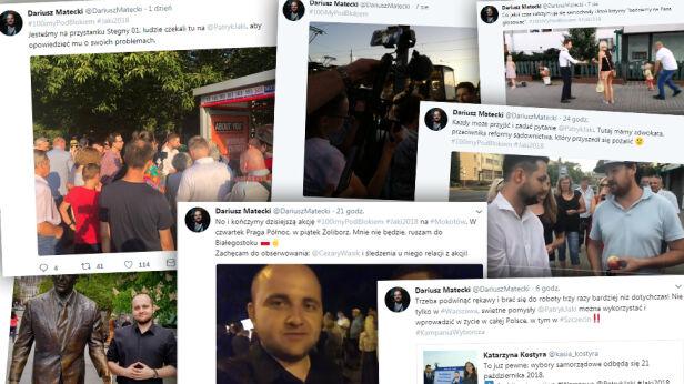 Dariusz Matecki aktywnie relacjonuję kampanię Jakiego Dariusz Matecki / Twitter