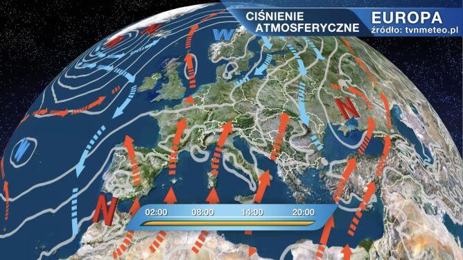 Układy niskiego i wysokiego ciśnienia kształtują pogodę w Polsce
