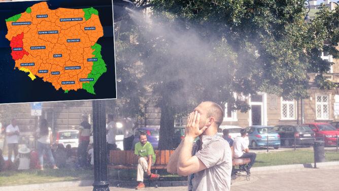 W prawie całym kraju upał może zagrażać zdrowiu i życiu