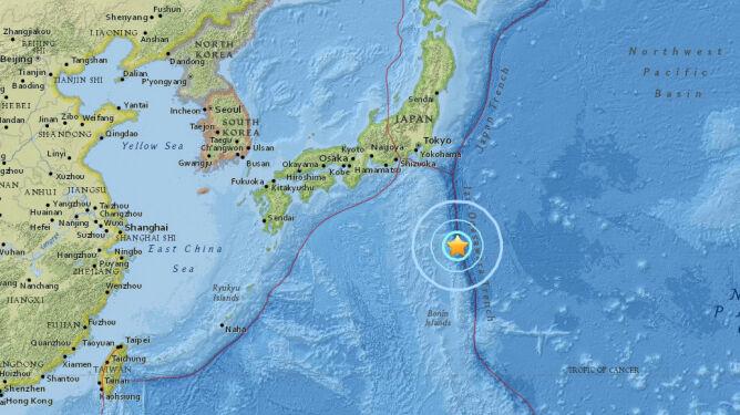 W pobliżu Japonii odnotowano trzęsienie ziemi