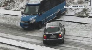 Samochody ślizgały się na drogach w Turcji